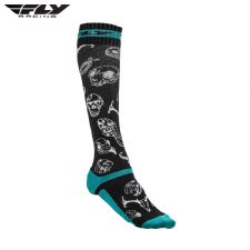 Fly 2018 MX Pro Thin Adult Sock (Teal/Black)